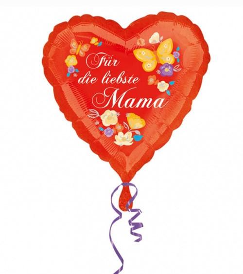 """Herz-Folienballon """"Für die liebste Mama"""""""
