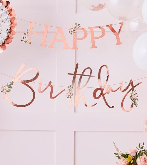 "DIY Happy Birthday-Girlande ""Botanical Tea Party"" - 2-teilig"