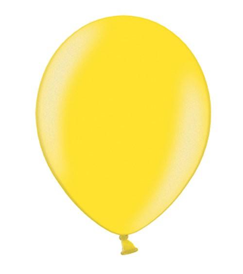 Metallic-Luftballons - limonengelb - 10 Stück