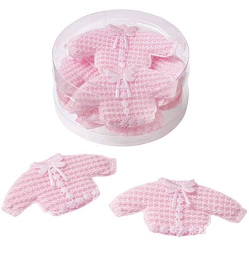"""Streuteile """"Baby-Jäckchen"""" - rosa - 7 x 4 cm - 10 Stück"""