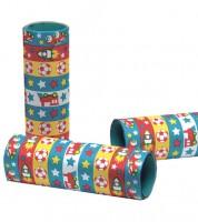 Papierluftschlangen mit Rennwagen und Raketen - 3 Stück