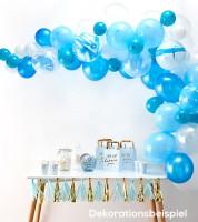 "Ballongirlanden-Set ""Farbmix Blau"" - 70-teilig"