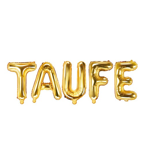 "Folienballon-Set ""Taufe"" - gold"