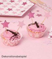 "Cupcake-Picks ""Little Star Pink"" - 20 Stück"