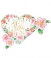 "SuperShape-Folienballon ""Sweet Baby Girl"" - 68 x 50 cm"