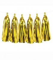 DIY Tassel-Girlande - metallic gold - 1,5 m