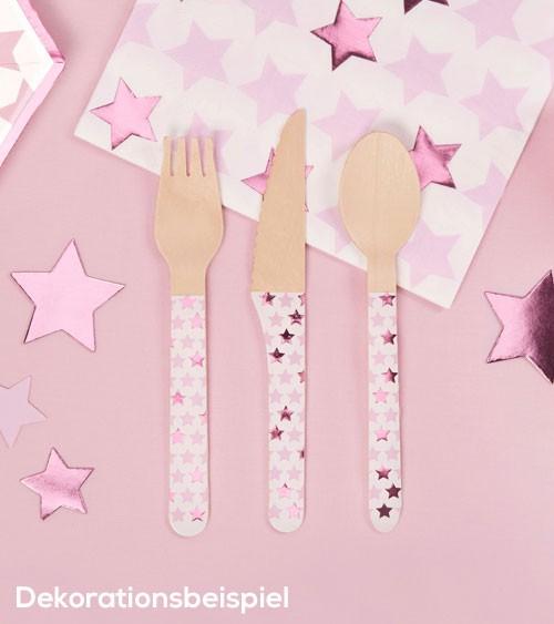 """Holzbesteck """"Little Star Pink"""" - 24-teilig"""