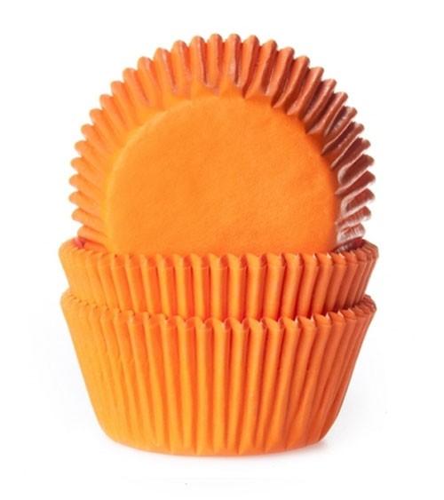 "50 Papierförmchen ""Uni"" - orange"