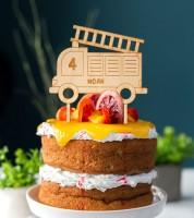 """Dein Cake-Topper """"Feuerwehr"""" aus Holz - Wunschtext"""