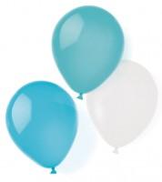 "Luftballon-Set ""Farbmix Aqua"" - 25,4 cm - 8-teilig"