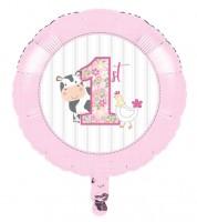 "Runder Folienballon ""Bauernhof - Mädchen"" - 45 cm"