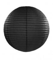 Papierlampion - schwarz - 35 cm