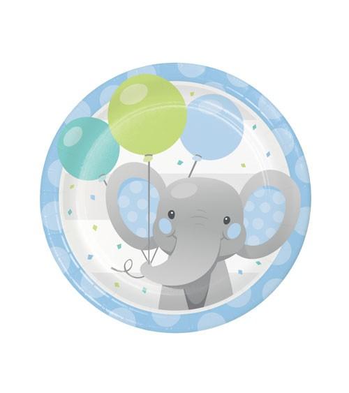"Kleine Pappteller ""Little Elephant - Boy"" - 8 Stück"