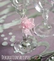 Mini-Ziehschleifen aus Organza und Satin - rosa - 5 Stück