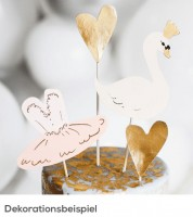 "DIY Cake-Topper ""Lovely Swan"" - 4 Stück"