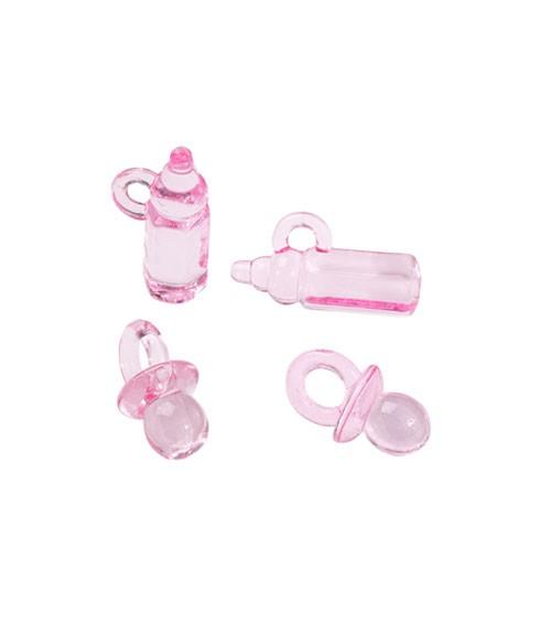 Baby-Streuteile in Herzbox - rosa - 16-teilig