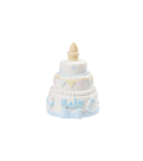 "Deko-Figur ""Baby Boy Torte"" - 4,5 cm"
