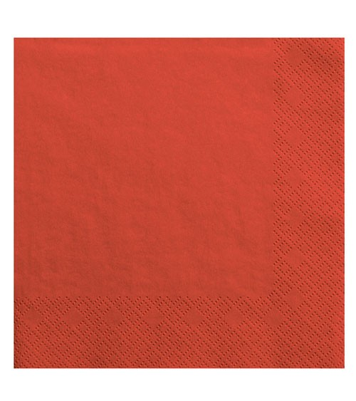 Servietten - rot - 20 Stück