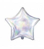 Stern-Folienballon - irisierend - 48 cm
