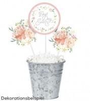 """Centerpiece-Sticks """"Floral Dream"""" - 3 Stück"""