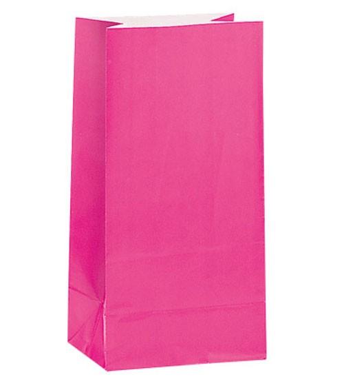 12 Papiertüten - pink