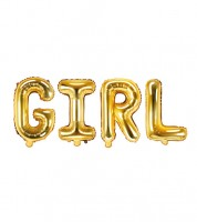 "Folienballon-Set ""GIRL"" - gold - 35 cm"