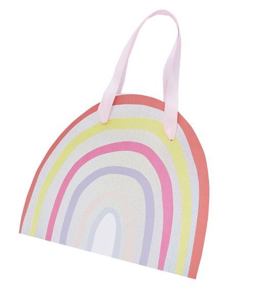 """Shape-Partytüten """"Rainbow Pastel"""" - 5 Stück"""