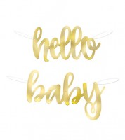 """Hello Baby""-Girlande - gold - 1,20 m"