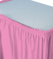 Tischverkleidung - pink - 4,26 m