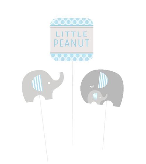 """Centerpiece Sticks """"Kleiner Elefant - hellblau"""" - 3 Stück"""