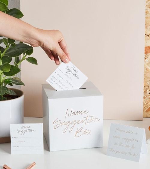 Babyparty-Kartenbox für Namensvorschläge - 32-teilig
