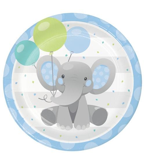 """Pappteller """"Little Elephant - Boy"""" - 8 Stück"""