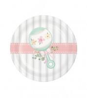 """Kleine Pappteller """"Floral Baby"""" - 8 Stück"""