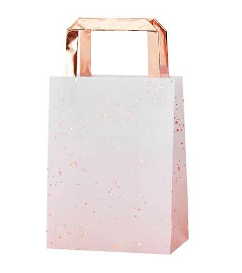 "Papiertüten mit Henkel ""Mix it up"" - ombre rosa, rosegold - 5 Stück"