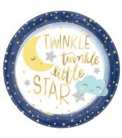 """Große Pappteller """"Little Star"""" - 8 Stück"""
