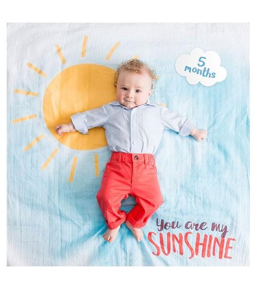 """Meilenstein-Decke mit Karten - """"You are my Sunshine"""" - 8-teilig"""