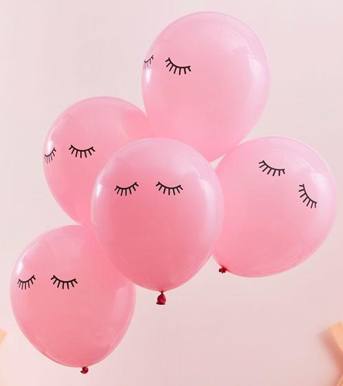 """Luftballons """"Sleepy Eyes"""" - rosa - 5 Stück"""