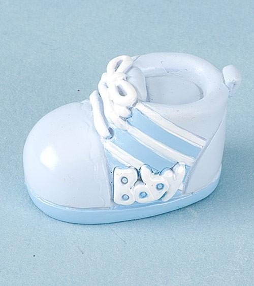 Kleiner Babyschuh aus Kunststein - blau