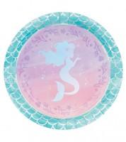 "Pappteller ""Mermaid Shine"" - 8 Stück"
