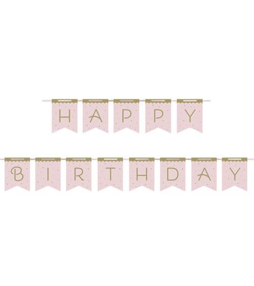"Happy Birthday Girlande ""Eleganter Schwan"" - 2,14 m"