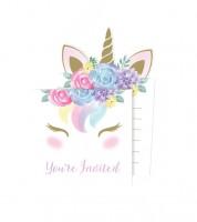 """Einladungskarten """"Unicorn"""" - 8 Stück"""