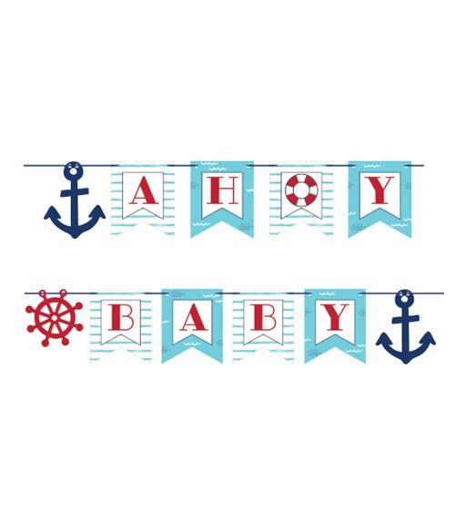 "Schriftzug-Girlande ""Ahoy Baby"" - 1,8 m"