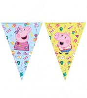 """Wimpelgirlande """"Peppa Wutz Party"""" - 2,3 m"""