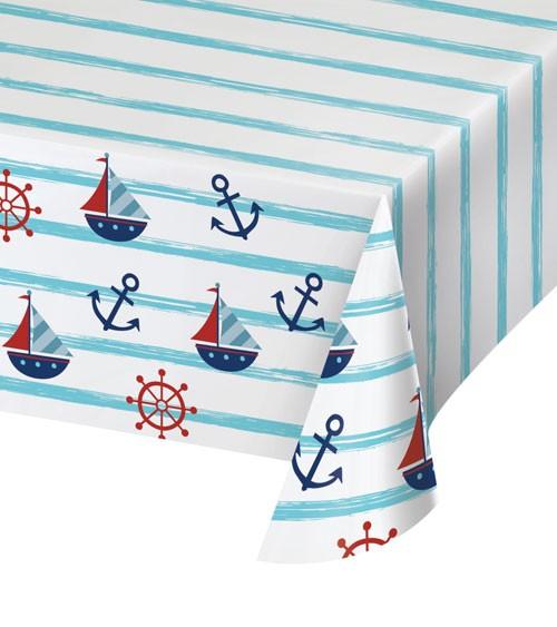 """Papier-Tischdecke """"Ahoy Baby"""" - 137 x 259 cm"""