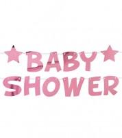 """DIY Baby Shower-Schriftzuggirlande """"Little Star Pink"""" - 2,5 m"""