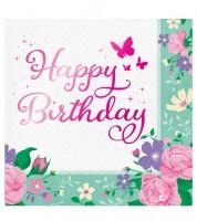 """Servietten """"Kleine Fee"""" - Happy Birthday - 16 Stück"""