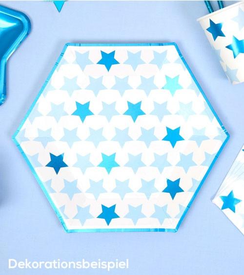 """Pappteller """"Little Star Blue"""" - 8 Stück"""