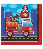 """Servietten """"Feuerwehrauto"""" - 16 Stück"""