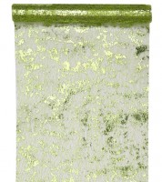 Tischläufer in Metallic-Netzoptik - hellgrün - 28 cm x 5 m