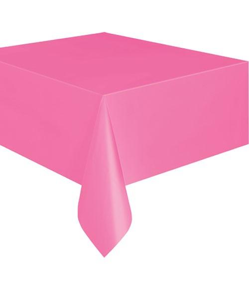 Kunststoff-Tischdecke - pink - 137 x 274 cm